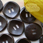 Brown Rhombus 2 Holes 30mm Wood Buttons Sewing Scrapbooking Craft C021