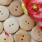 Plain 2 Holes 23mm Wood Button Sewing Scrapbooking Craft C012