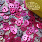 Red  Heart Mixed Heart 10mm  Shell Buttons Sewing Scrapbooking craft  MOPH04