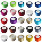 "1 Roll 25 Yards 2"" 50mm Satin Ribbon Sash Bow Craft Wedding Party Decoration Hot"