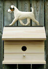 Bird House W/ Jack Russell Terrier (Rough) on Peak. Yard & Garden Dog Products.