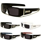 LOCS Rectangular Gangster Black Shades Mens Designer Sunglasses New Dark Lens