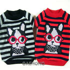 Dog&Cat Clothes Stripe & Glasses Pets Shirts_AE10