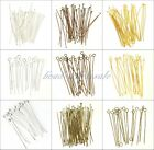 100pcs Silver Golden Head/Eye/Ball Pins Finding 21 Gauge any size to choose