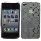 Hybrid Silicone Gel Circle Patterned Case for Apple Iphone 4