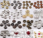 500pcs silver/golden/black/copper/bronze color metal flower bead caps 6mm U pick