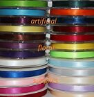 10mm double sided satin ribbon FULL ROLLS PLENTY OF COLOURS AVAILABLE