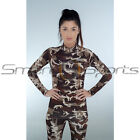 Ladies Fitness Compression Camo Skin Tight Leggings+Top Military S-XXL 8-18 TFx