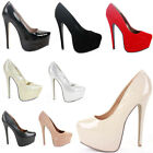 Evening Party Platform Wedding Bridal Court Shoes Pumps Stiletto High Heels Size