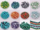 50pcs Wholesale malachite 6mm beads for bracelet,necklace 12colors U pic