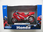 Welly Die Cast Motorbike 1/18 Models Honda Bmw Kawasaki Racing Police Toy Bnib