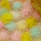 Mixed Organza Chrysanthe​mum Flower 25mm Sewing Scrapbooking Trim Appliques JMOS
