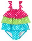 GYMBOREE ICE CREAM SWEETIE PINK & GREEN 1-PC SWIMSUIT 12 18 24 2T 3T 4T 5T NWT
