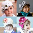Cute Pretty Toddler Infant Baby Girl Beanie Flowers Hat Cap 3 months to 2 years