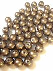Light Brown Glass Pearl Beads 4mm, 6mm, 8mm, 10mm choose your size, multi choice