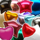 Solid COLOUR Round Star Heart Shape Wedding Party Foil Balloons In 1 Listing PA