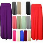 WOMENS LADIES FOLD OVER WAIST LONG VISCOSE JERSEY MAXI SKIRT SIZE 8 10 12 14