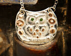 Owl Necklace New Silver Owl Bird Pendant Two Tone Silver and Gold Bird Necklace