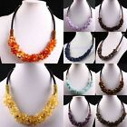 Fashion Women Gemstone Stone Chips Beads Choker Chain Necklace Cocktail Jewelry