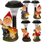 Solar Powered Outdoor LED Garden Gnome Ornament Decoration Light Spotlight Lamp