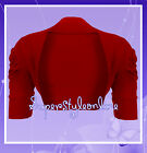 GIRLS BOLERO SHRUG Dark Red WEDDING CHRISTMAS CARDIGAN KIDS TEEN AGE 2-13 YRS