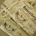 1 Meter Vintage Chic Victorian Maison de COSMO Old Fashion Cotton Linen Fabric