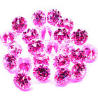 PINK COLOR CUBIC ZIRCONIA STONE. ROUND SHAPE CZ  AAAAA  QUALITY U.S.A SHIPPER