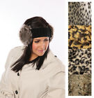 *Brand New* Knitted Headband With Faux Fur Animal Print Ear Covers, Winter Gift