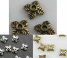 100pcs Antique zinc alloy craft Leaf Bead Caps 6mm for jewlery loose beads