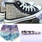 Silver Pyramid Studs Rivet leather Craft Bags/Shoes/Clothes 5/6/7/8/9/10/12mm