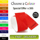 300 x Tyvek Wristbands ID Security Bands FREE P&P Coloured Wristbands