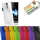GRIP S-LINE SILICONE GEL CASE FITS SONY XPERIA S LT26i FREE SCREEN PROTECTOR