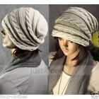 Casual Hat Winter Ski Warm Knit Cap Skull oversize Baggy Beanie for Mens Womens