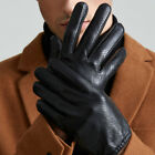 Men's 360° Smart Touch Screen Genuine Leather Thin Mesh Gloves Texting Driving