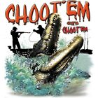 "Dixie Rebel Southern Swamp "" GATORS CHOOT EM  "" 50/50 Gildan/Jerzees T SHIRT"