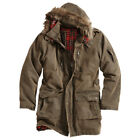 SURPLUS XYLONTUM GIANT PARKA MENS LONG HOODED JACKET WATER-RESISTANT BROWN S-XXL