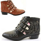 Cowboy Style Western Heel Shoes Winter Booties Ankle Boots Size