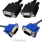 SVGA/VGA 15PIN CABLE MALE TO MALE PC MONITOR TV LCD PLASMA PROJECTOR TO TFT LEAD