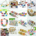 Wholesale 50PC Multicolor Mixed Colors Charm Loose Beads Fit European Bracelet