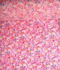 Gorgeous Vintage Pink floral craft fabric.Lovely Shabby Chic. Same Day Dispatch!