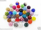 20Pcs Quality Czech Crystal Rhinestones Pave Clay Round Disco Ball Spacer Beads $1.43 USD on eBay
