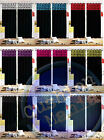 CURTAINS LINED PAIR FLOCK DAMASK EYELET RINGTOP CURTAINS 9 COLOURS BLACK FLOCK