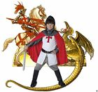 Medieval Crusader Knight fancy dress up BNIP 4-12yo Boys Tudor St George Costume