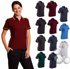 Ladies Polo Size 8 10 12 14 16 18 Contrast Piping Work Golf Shirt Top!
