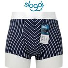 BOXER uomo SLOGGI CLIF HIPSTER micromodal SHORT BLU-RIGHE  XS-S-M-L-XL