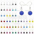 NEW 1Pair Disco Balls Beads Charms Crystal Rhinestone Friendship Earring Pendant