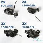 2X 800/1300/1600/3200 GPH Circulation Pump Wave Maker Aquarium Reef Powerhead