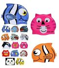 CRITTER Learn to SWIM CAP Silicone Kids Pool Fish Cat Bear Choose Swimming 39700