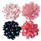 7cm Spotty Polka Dot Summery Pastel Flower Hair Clips Grip Accessory Bridal Prom