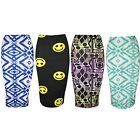 Womens Bodycon Pencil Ladies Jersey Stretchy High Waisted Gypsy Tube Midi Skirt